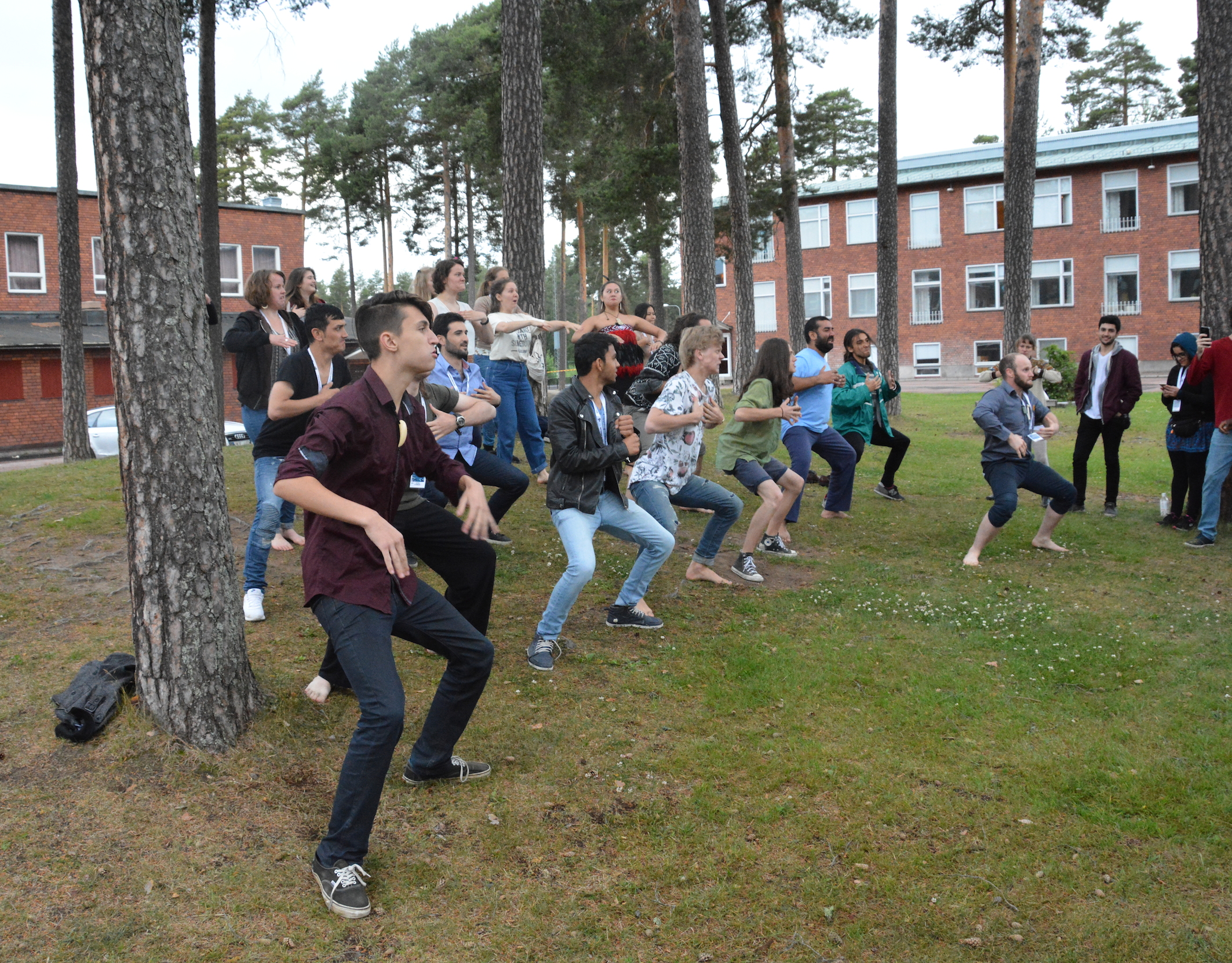 Ethno Doing The New Zealand Haka In The School Park
