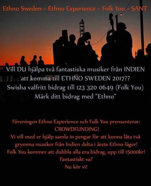 Sponsra Deltagare Med Ethno Experience!